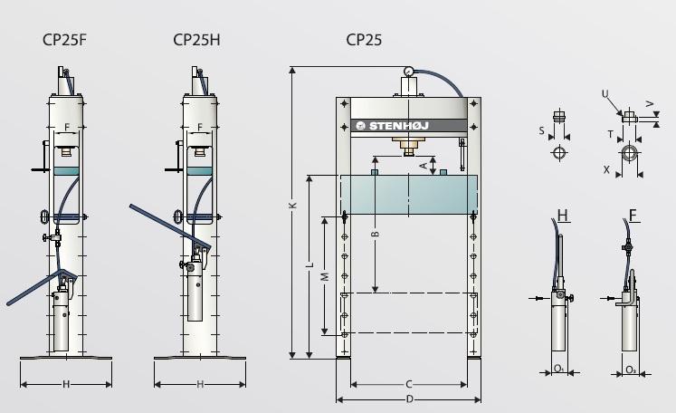 presse hydraulique d atelier capacit u00e9 20 t big red